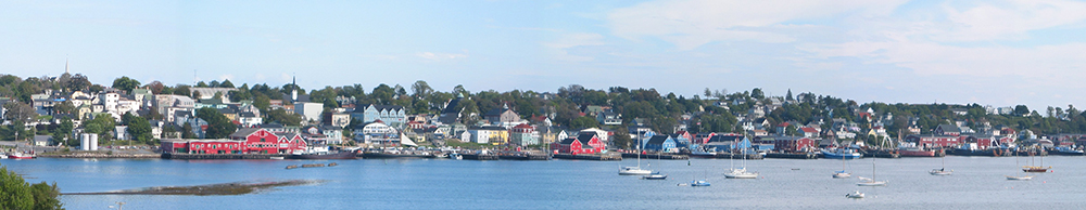 lunenburg nova scotia as seen from the golf course